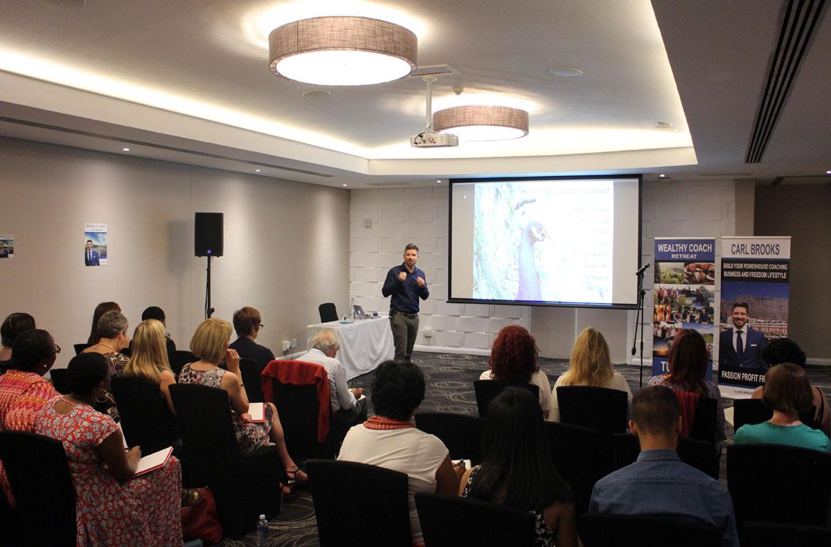 Carl Brooks presenting at Seminar in Cape Town